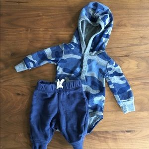 Carters Baby Boy Camouflage Onesie Outfit